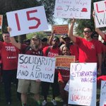 Fast-food workers 'Fight for 15' during Phoenix Labor Day protest