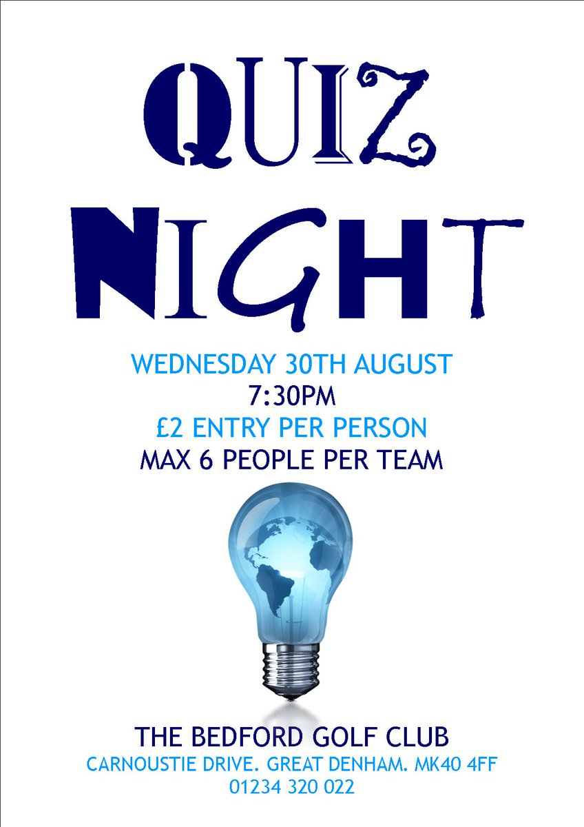 test Twitter Media - Join us tomorrow for out monthly #QuizNight @thebedfordgc https://t.co/Wmk2jshhuU