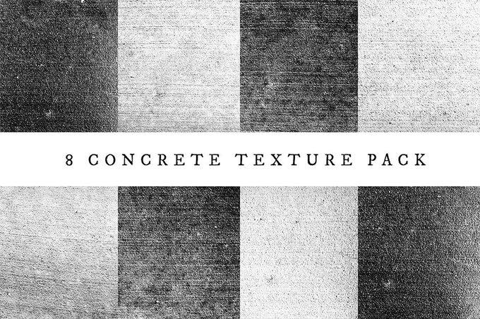 8 Concrete Texture Pack texture concrete fre freebie design designsheffart