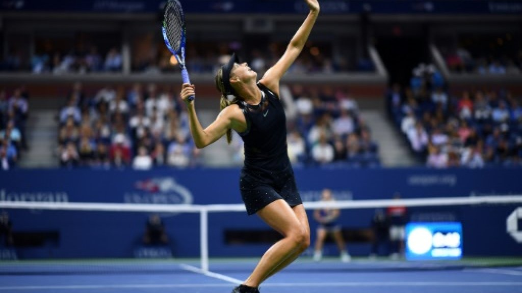 Sharapova gets down to business at US Open