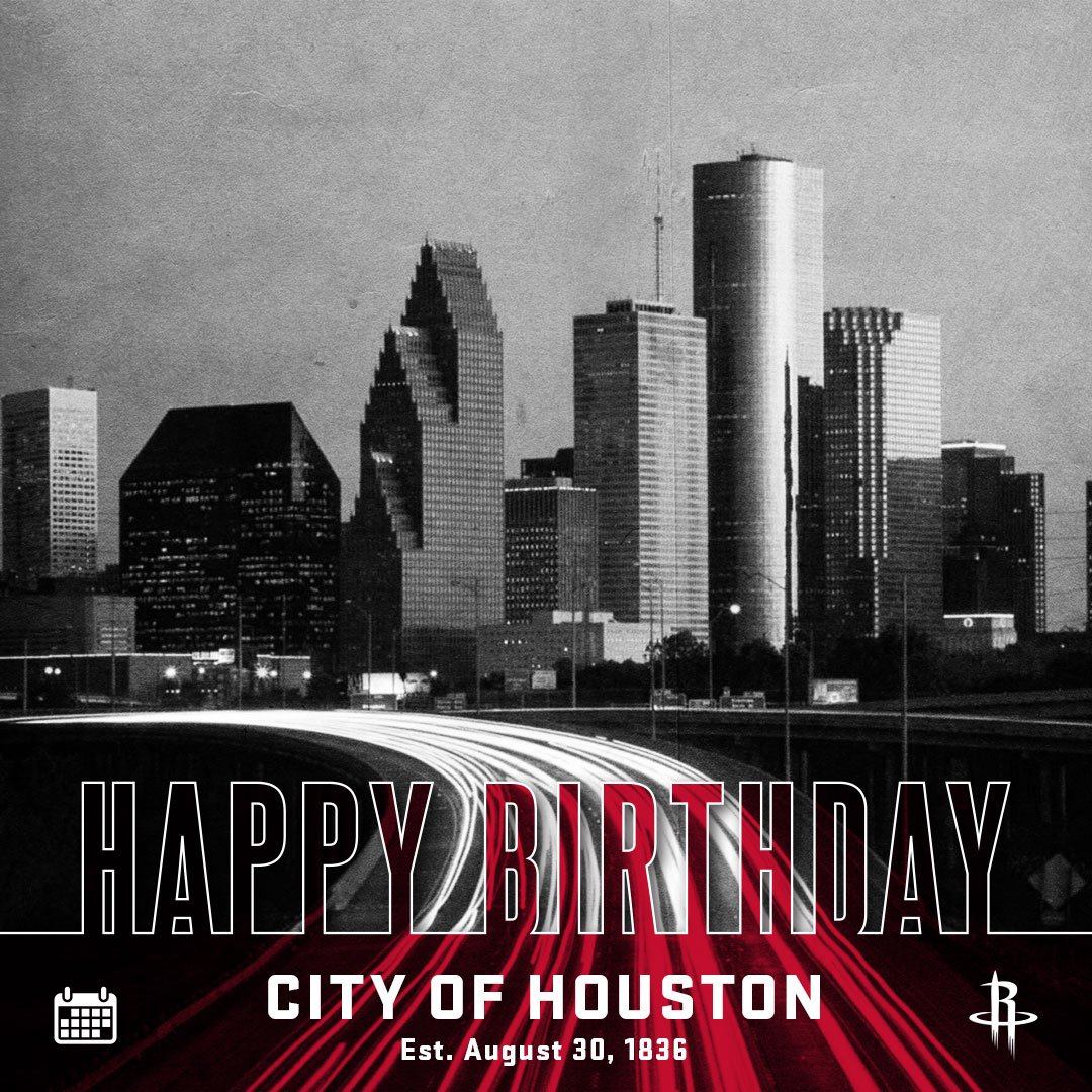 Happy Birthday Houston, today is a special one as we begin to rebuild together as a city. #RunAsOne #HoustonStrong https://t.co/rT9a6YmyoW