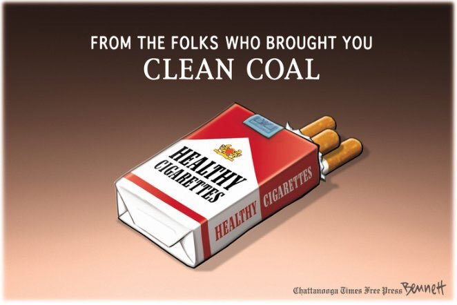 From the Folks Who Brought You CLEAN COAL:  Healthy Cigarettes! https://t.co/5LnlpzhOxn
