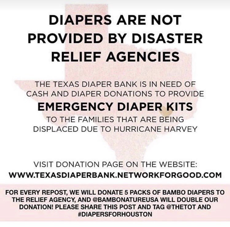 Please share/donate to support the Texas Diaper Bank #DiapersForHouston https://t.co/O7fz1mJm29
