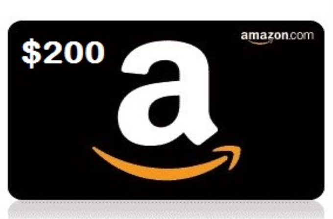 $200 Amazon Gift Card Giveaway (9/18 US/CAN)