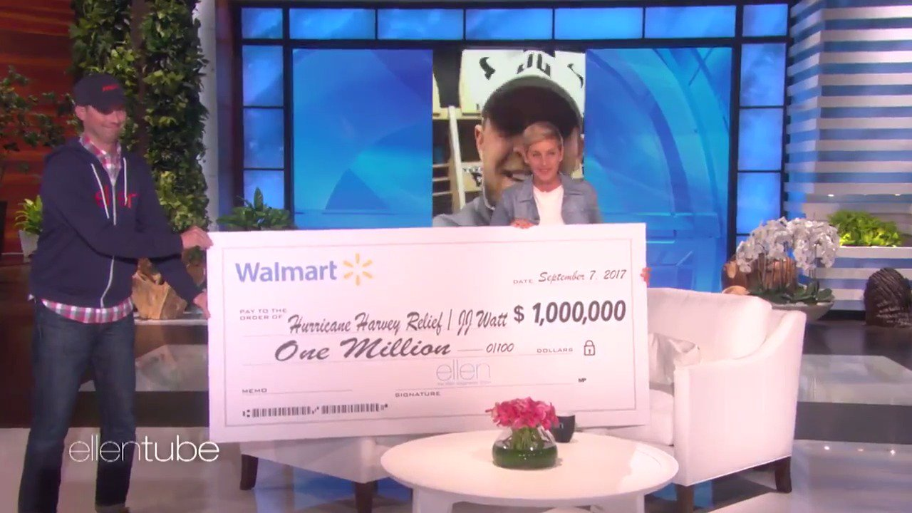 I ❤️  @JJWatt. I ❤️ Texas. And thank you so much @Walmart. https://t.co/8aZqkiGyPN