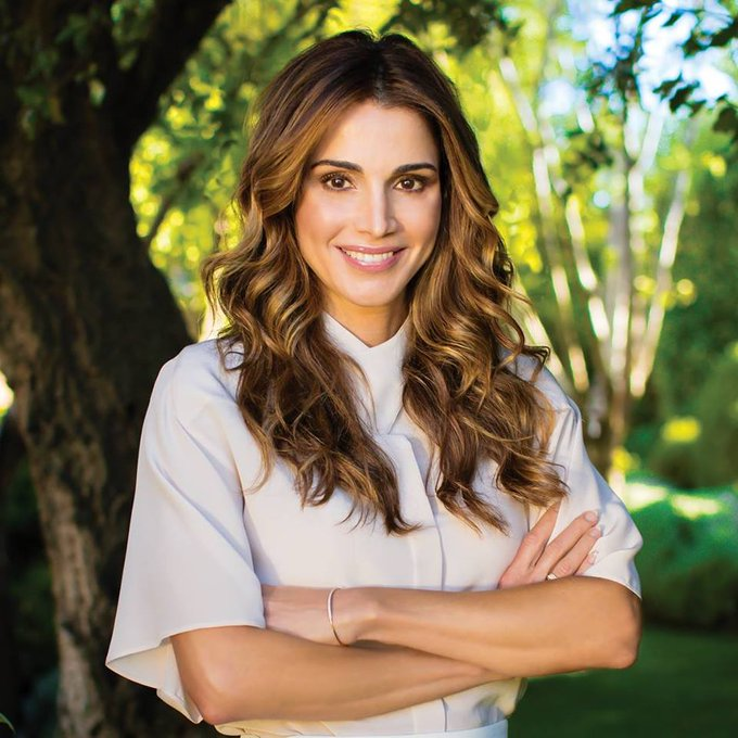 Happy 47th birthday to Her Majesty Queen Rania of Jordan.
