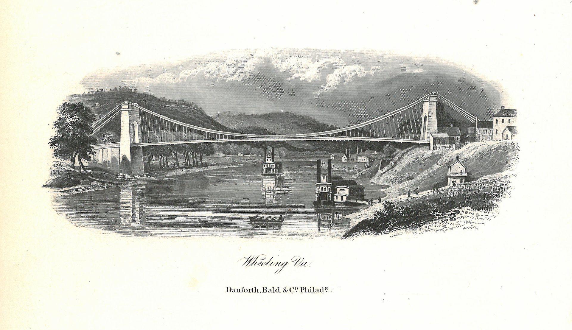 31AUG1852: Congress declares #WheelingSuspensionBridge a post road, saving it from demolition. #ASCE landmark; 1st bridge to span #OhioRiver https://t.co/zKzCYPb19P