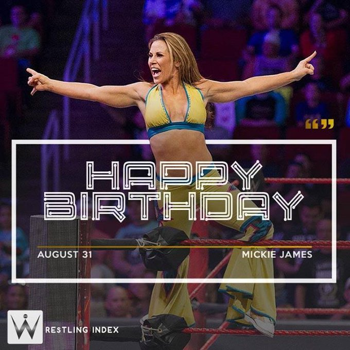 Happy Birthday to the former 6 time women\s champion MICKIE JAMES.