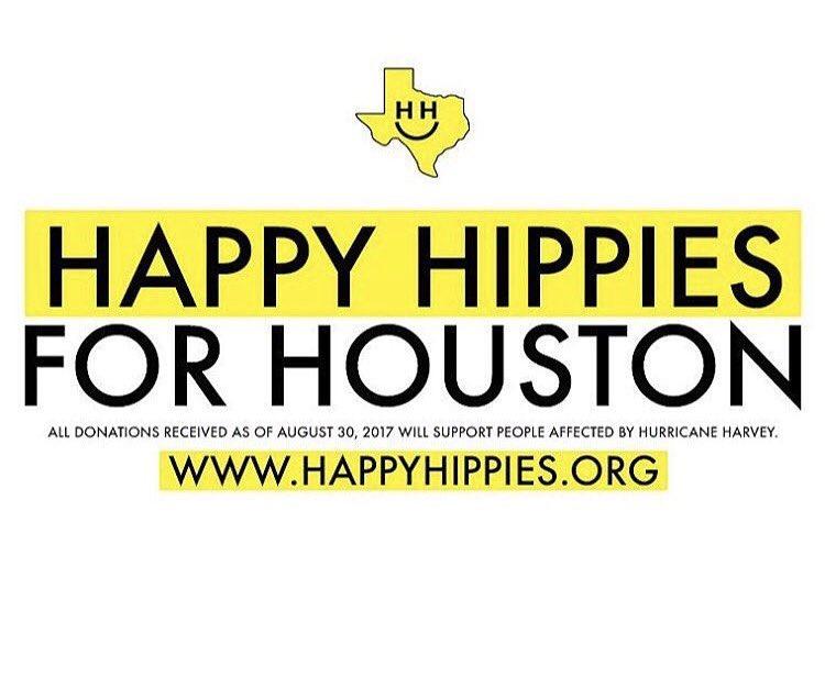 #HappyHippiesForHouston #BringHopeToHouston #hurricaneharvey #HH4HH https://t.co/5ka6cB2jp2