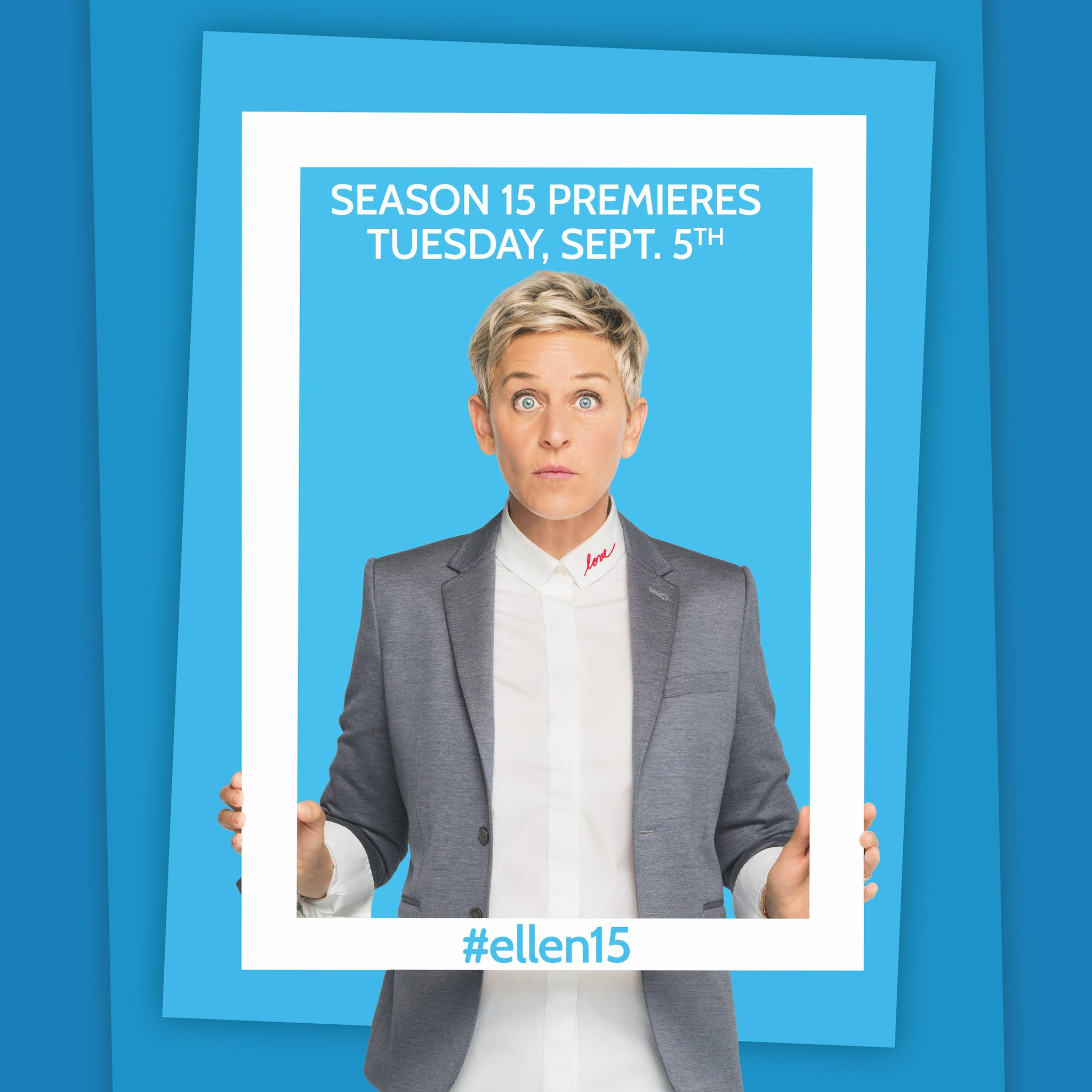 It's almost here. Season 15 starts Tuesday! #ellen15 https://t.co/JyNFeEpEhf