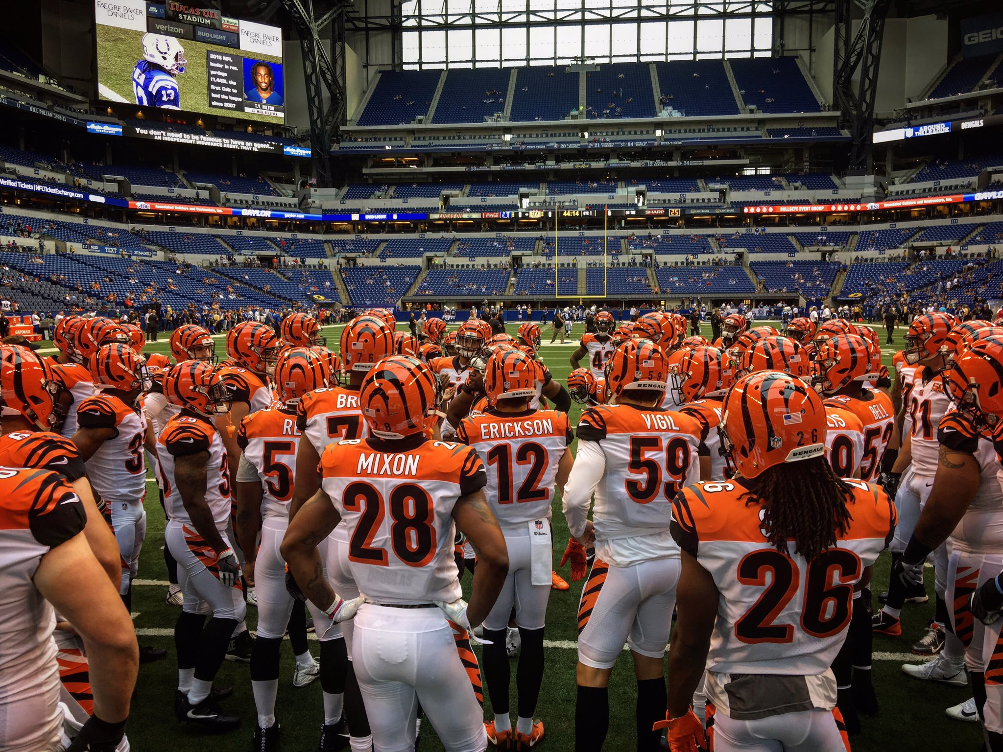 Game time. WHO DEY! #CINvsIND https://t.co/HOO85xARNY