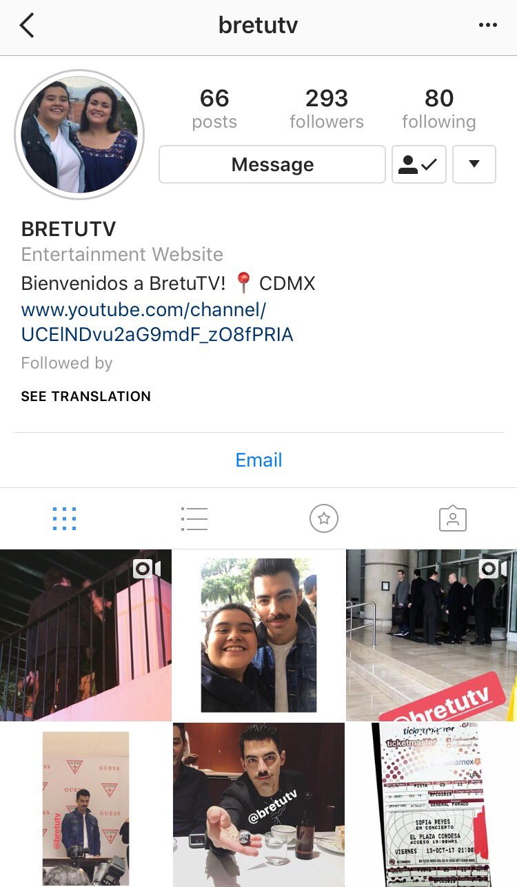 Amigos no olviden seguir a bretutv en Instagram, hablan de conciertos y stalkeos. ¡Son lo mejor! Se van a divertir ✨ https://t.co/ZbPFGkDJet