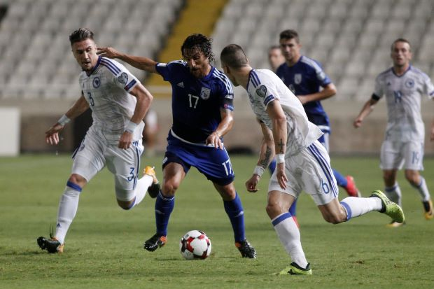 Cyprus score three in 15 minutes to floor stunned Bosnia