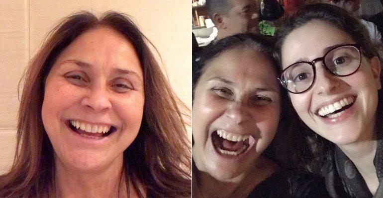 Fafa De Belem. Foto do site da Caras Brasil que mostra Fafá de Belém elogia o trabalho de Carol Duarte na TV: 'Sucesso!'