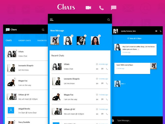 Chat Room App   Theme freebie via rsathish01