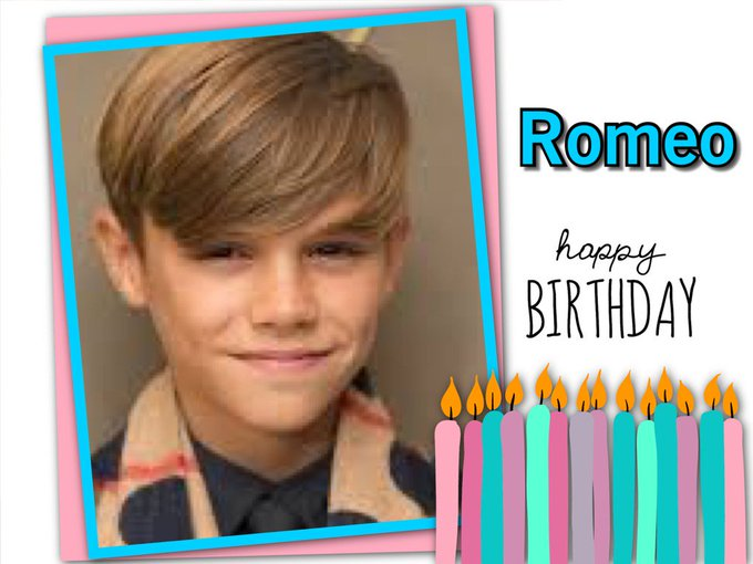 Happy Birthday Romeo Beckham, Gloria Estefan, Rudy Gullit, LiLy Tomlin, Madison Brown Belafonte & Sean Stewart