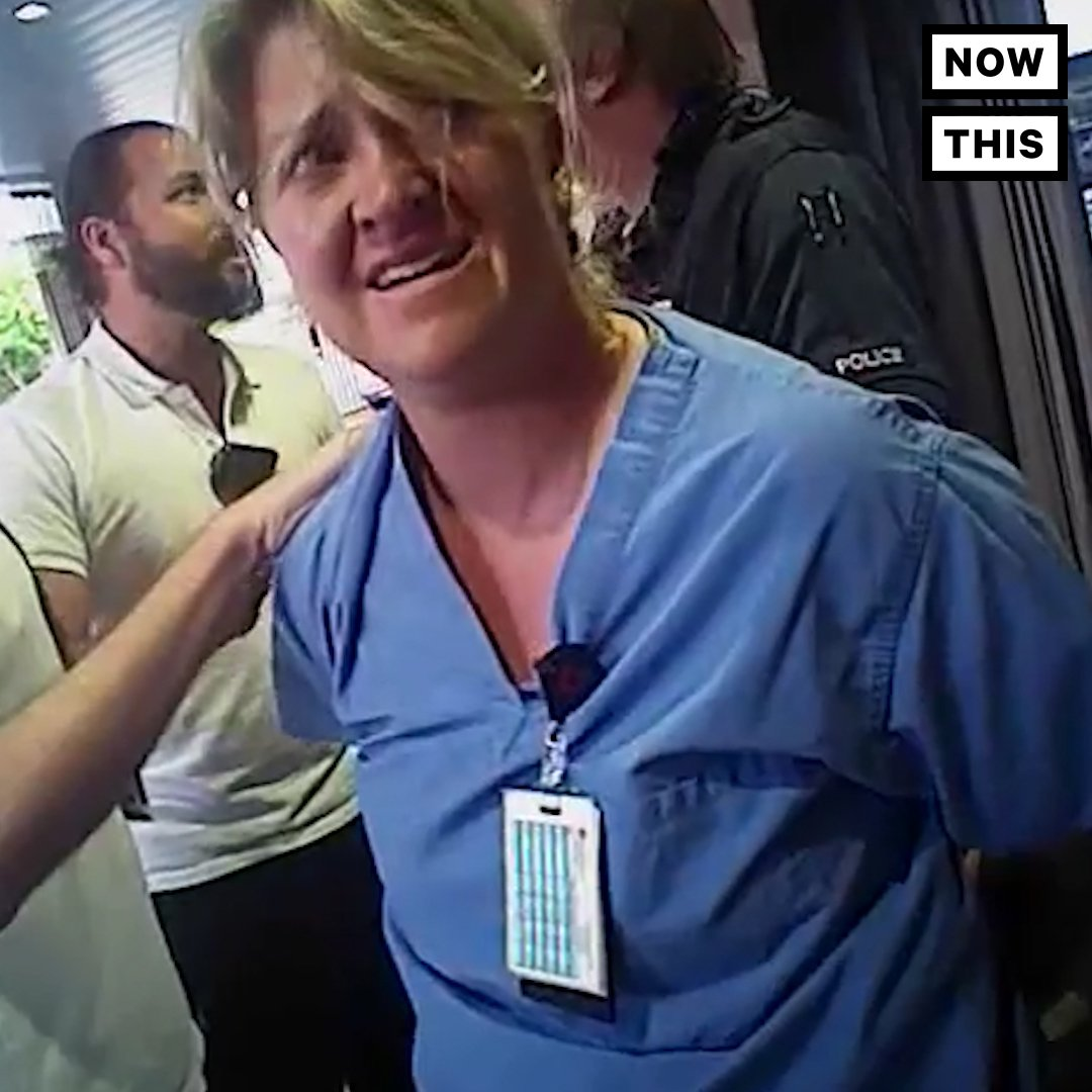 Footage shows this nurse being forcefully arrested for following her hospital's rules https://t.co/3oFu3l0tds