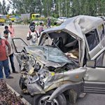 Three dead, six persons injured in accident, pile-up on airport road