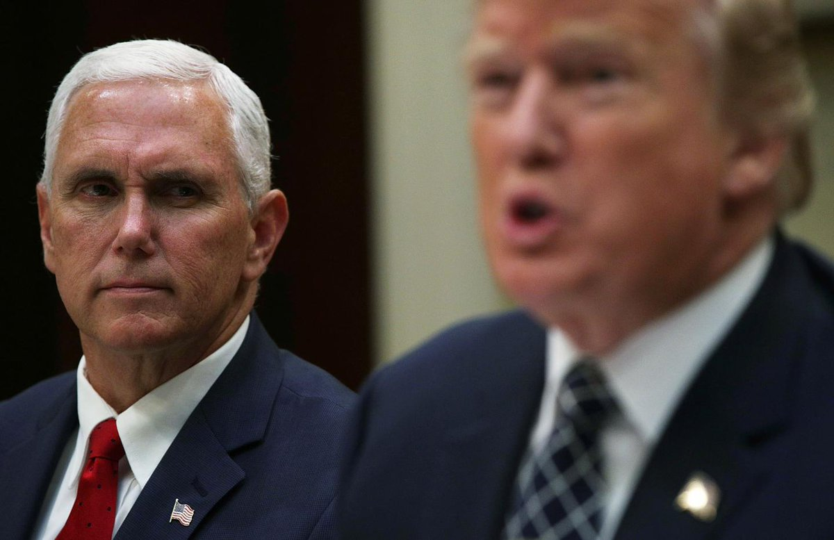 Mike Pence could pardon Donald Trump, following in Ford and Nixon's footsteps