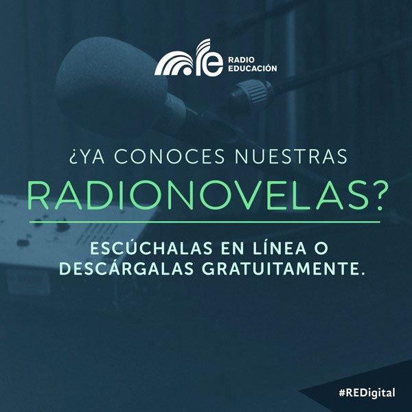 ¿Ya conoces nuestras #radionovelas? Escúchalas en línea o descárgalas. https://t.co/rxcuki5e3H #REDigital https://t.co/0j2EPIRSCs