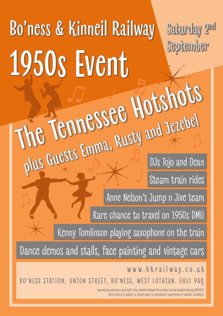 test Twitter Media - RT @bonessrailway: Head to the B&KR today for our very first 1950s event! Steam trains, music and classic cars 😀 ^JS https://t.co/kmTVccadSi