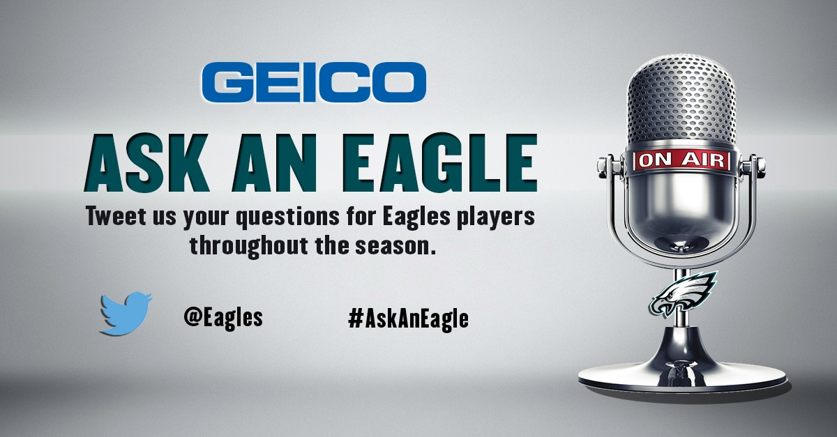 .@GEICO #AskAnEagle is back! Use the hashtag to submit your questions. Brandon Graham is featured for Week 1. https://t.co/aomY7rtl1q