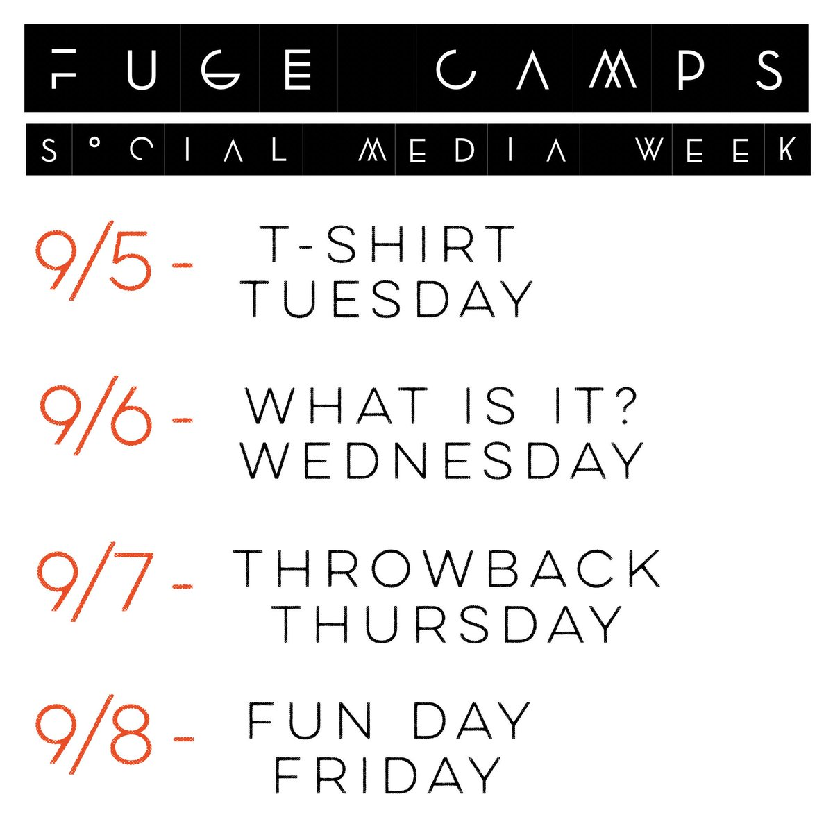 test Twitter Media - FUGE SOCIAL: Staff/students/adults invited! Prizes! Details to follow! Share all the fun and what the Lord has done! Party starts Tuesday! https://t.co/9h8CHpP0z1