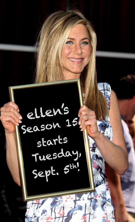 Oh Jen, you shouldn't have. #ellen15 https://t.co/JoF4EixQot