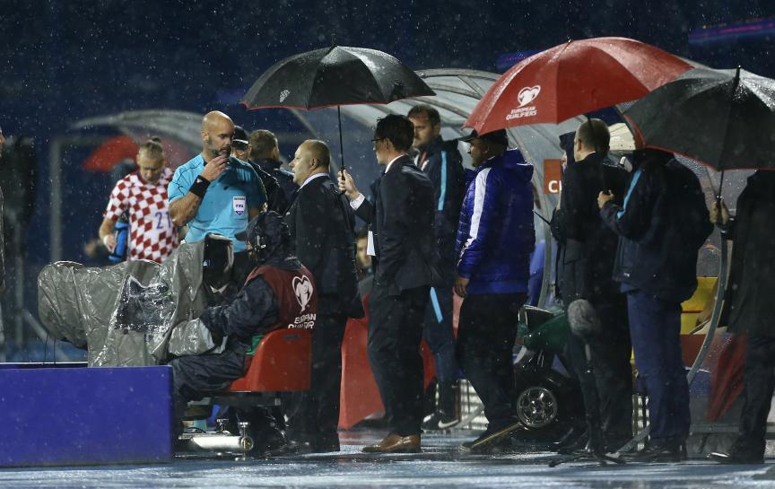 Croatia v Kosovo qualifier abandoned due to heavy rain