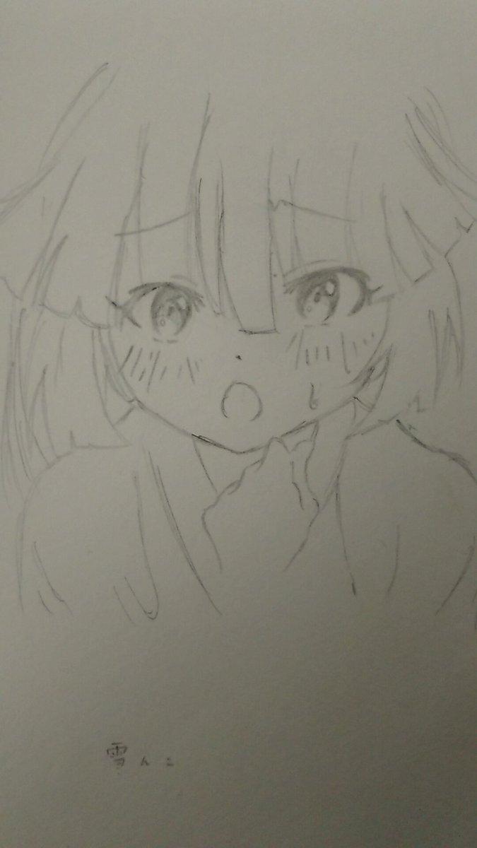 《前に描いたやつpart6》奇異太郎少年の妖怪絵日記の雪んこちゃんの模写です(一年前~一年半前)