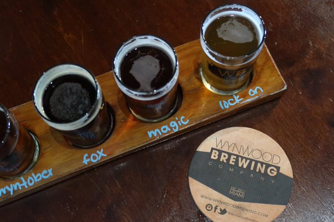 1 pic. It was so fun to discover the beer selection at @WynwoodBrewing https://t.co/L8Bj8JDSyk
