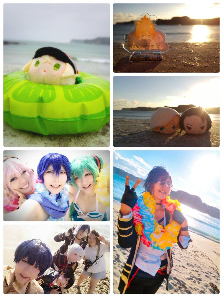 土日で今年も海ロケ行ってきましたー!( ´ω` )天気は台風とかで微妙でしたが今年も楽しかったー!一日目はボカロスイムと