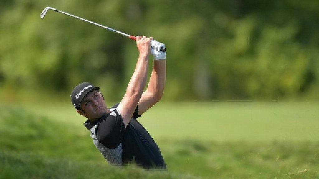 Spain's Rahm roars to halfway lead at Dell Championship