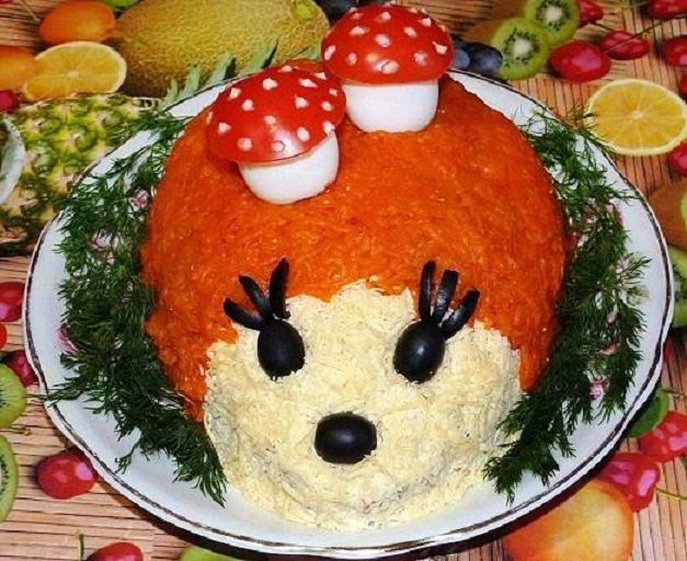 Вкусные салаты на детский день рождения рецепты с
