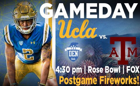 GET UP, IT'S GAMEDAY   ��: @UCLAFootball vs. Texas A&M ��: 4:30 PM PT ��: @RoseBowlStadium  ��: FOX  #BeatTAMU https://t.co/ElNs4YdCIS