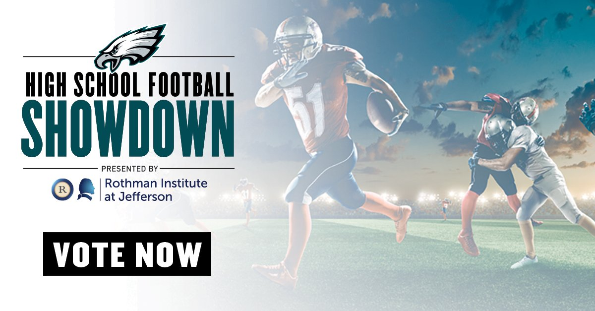 Vote now in the High School Football Showdown presented by @RothmanOrtho & @TJUHospital: https://t.co/gpDSqsNVJD https://t.co/4H0ZMUWows