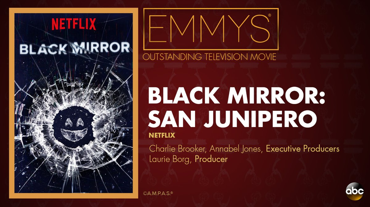 NEW: #Emmys Outstanding Television Movie: 'Black Mirror: San Junipero' https://t.co/IVcs1Xl2um https://t.co/djH1ZgGMrn