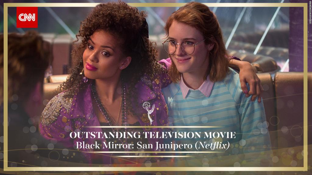 .@blackmirror: San Junipero wins Outstanding Television Movie. @netflix #Emmys https://t.co/brn70N0OyM https://t.co/bT9jP9cvaC