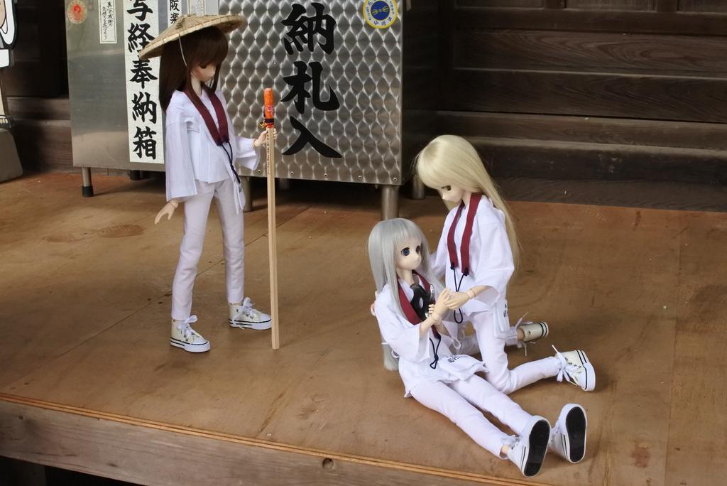 #水曜どぉるでしょう五十八番、仙遊寺。たま:めんまちゃん?!めん:わ、私もうダメみたい…たま:そんな!?傷は深いにゃ