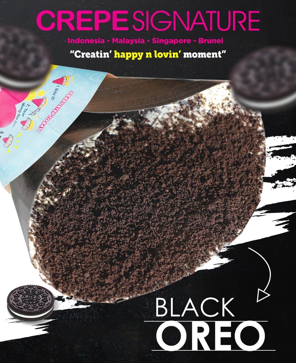 Yang hitam yang menawan...  Bener gak crepelovers??? #crepesignatureid #crepe #blackoreo #oreo #cemilanenak https://t.co/pjtZobHNR2
