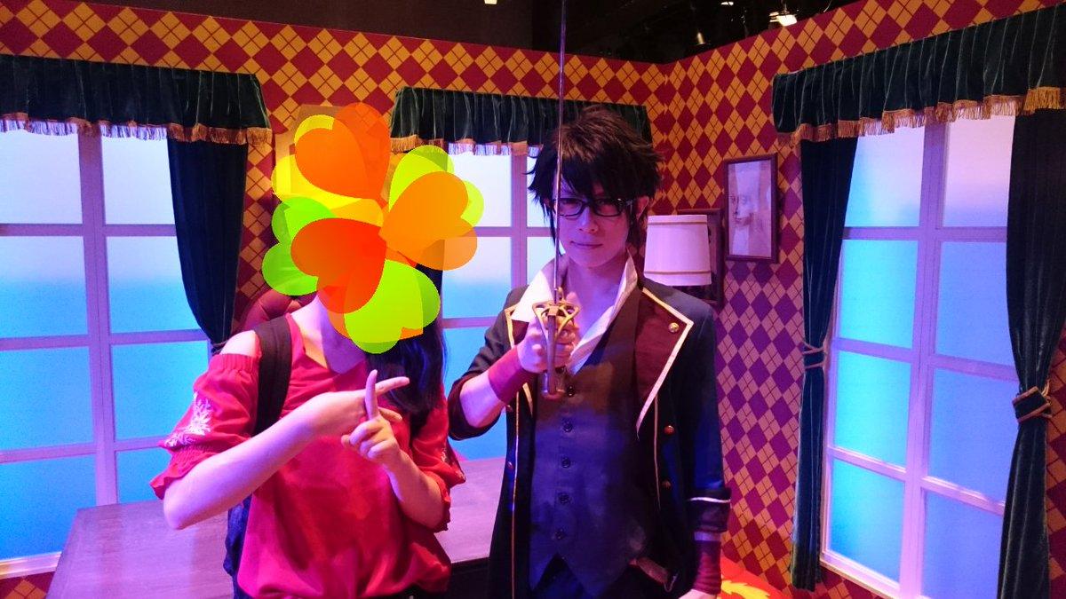 今日はK THE EXHIBITIONで伏見さん(KANAME☆さん)と写真撮ってきた~!格好よかった~♥ 伏見さんがそ
