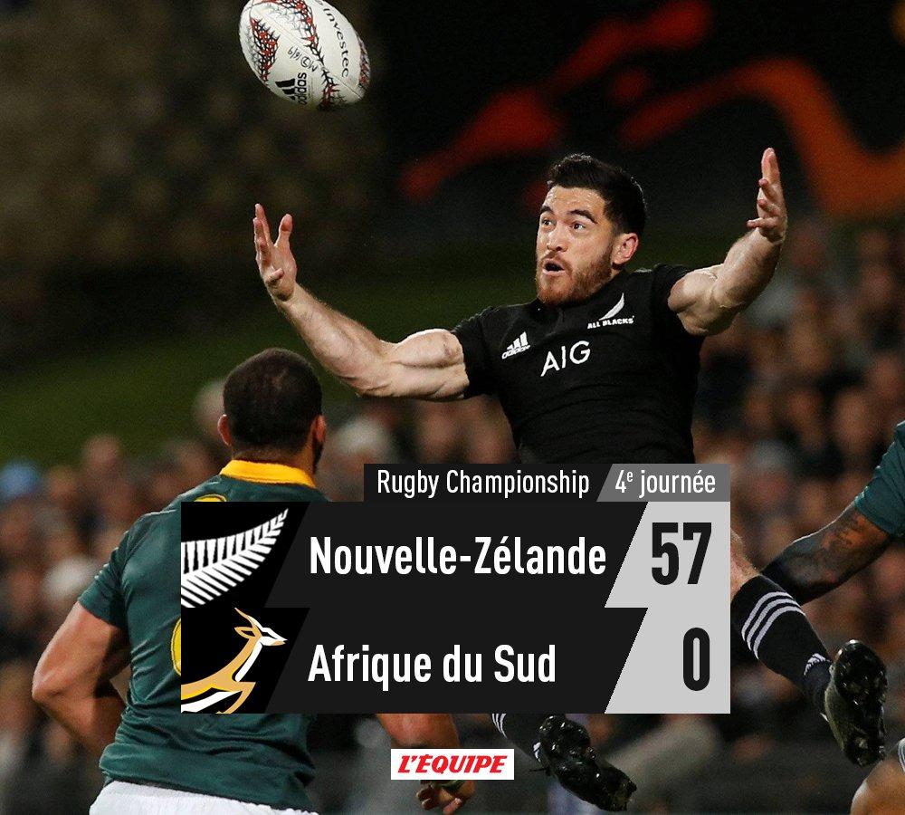 Rugby Championship : Les All Blacks donnent une leçon de rugby historique à l'Afrique du Sud