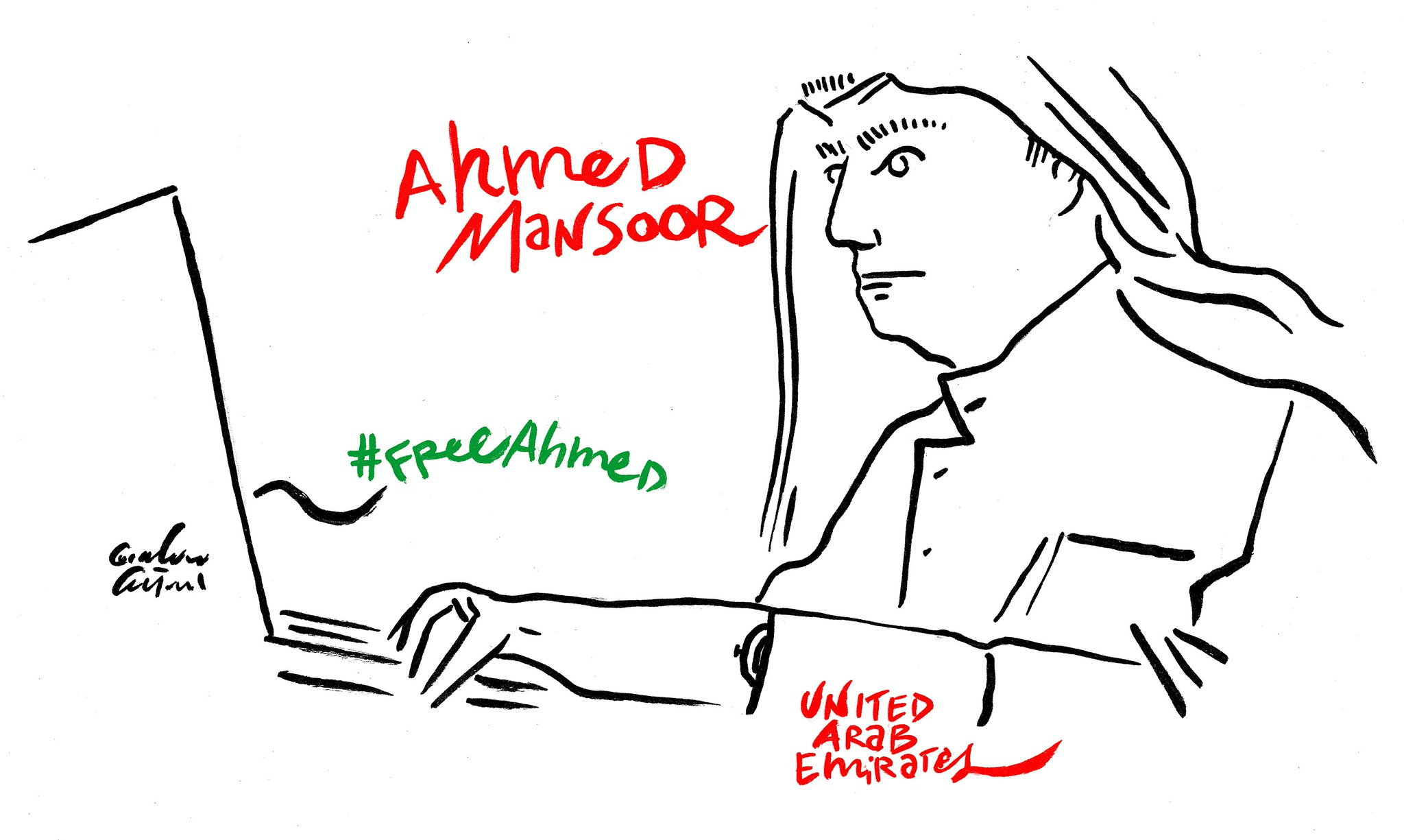 Ahmed Mansoor #freeAhmed https://t.co/A4iIik4d2X @CiLuna27 #UnitedArabEmirates @Ahmed_Mansoor @Amandalavan1 https://t.co/TRoXnyJcqn