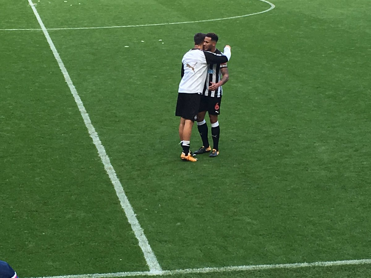 Lascelles encourages Joselu and applauds the crowd. Top work from the...