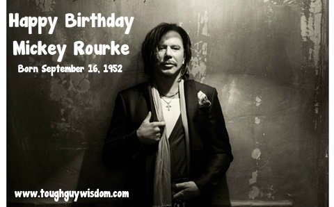 Happy 65th Birthday to Mickey Rourke!
