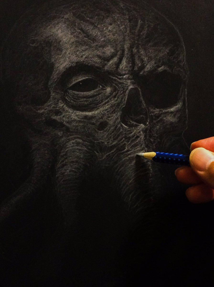 もう1つ、途中の作品でーす(◔⊖◔)#色鉛筆画Another piece that working on...