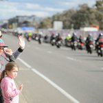 2000 Wall to Wall police remembrance motorcycle riders arrive in Canberra