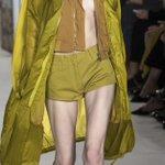 Vivid cobalt, elaborate ruffles seen at London Fashion Week