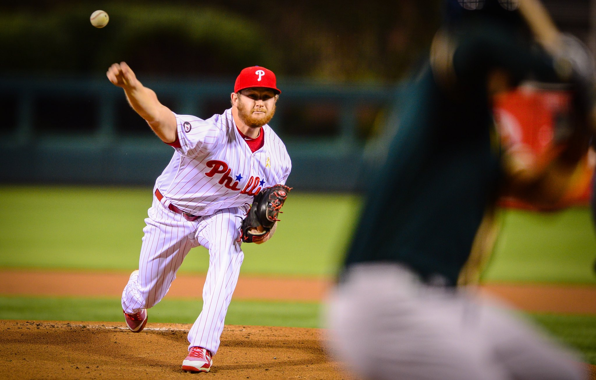 The A's jump out to an early lead, and are currently ahead 2-0 through 2.  Plenty of game to work with!   #GoPhils https://t.co/STSrl60r7s
