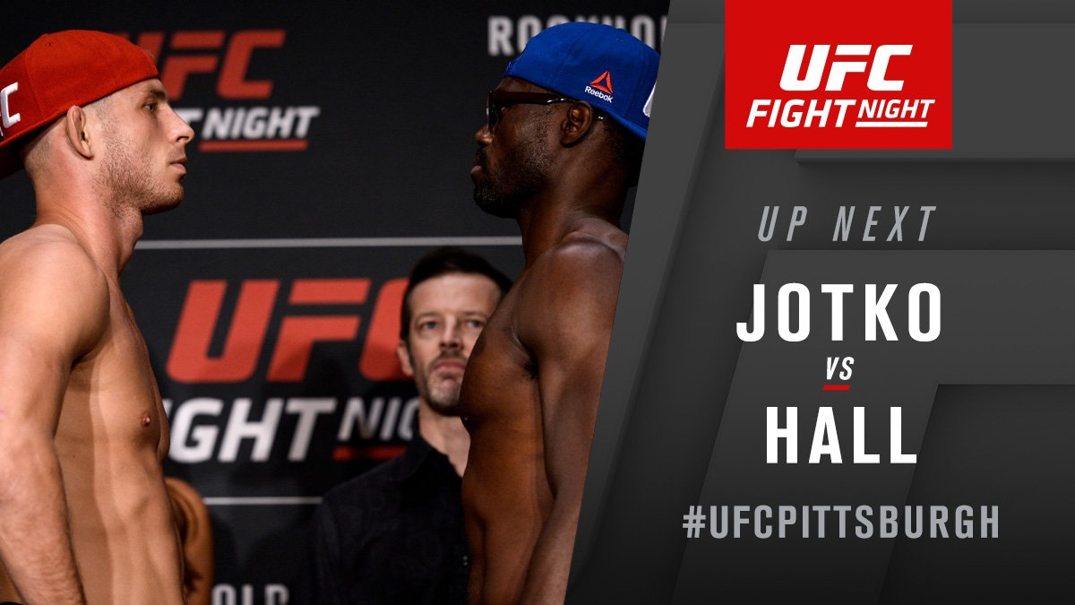 Don't call it a comeback!  @UriahHallMMA returns to the Octagon, takes on @JotkoMMA NOW on @FS1  #UFCPittsburgh https://t.co/vKXRd4woNl